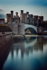 Conwy Castle long exposure (another_scotsman) Tags: conway castle wales landscape architecture estuary bridge longexposure firecrestnd48 greatphotographers greaterphotographers