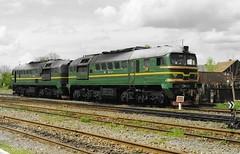 Solotvyno, Ukraine, 1998 (rh1193) Tags: ukraine railway eisenbahn train zug 2m62 locomotive m62 taigatrommel солотвино solotvyno