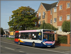 37058, St.James Road (Jason 87030) Tags: 37058 stagecoach midlands pink 15 2017 october light roadside shot enviro e200 yy63yrc flats scene sony alpha a6000 ilce nex lens tag northampton northants northamptonshire session sunny vehicle bus branded branding acrelane destination service transport