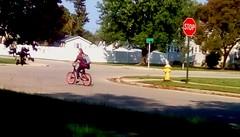 Biking home from school! (Maenette1) Tags: bicycle student neighborhood menominee uppermichigan flicker365 michiganfavorites