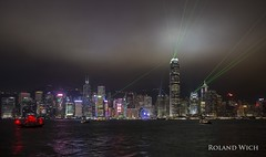 Hong Kong - A Symphony of Lights (Rolandito.) Tags: asia hong kong night nacht light lights laser show symphony kowloon skyline