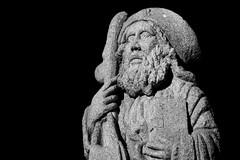 Plaza de Armas, Santiago de Chile (Mario Rivera Cayupi) Tags: religion religión santo estatua statue arte bw blanconegro santiagodechile serieart