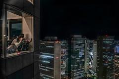 Shooting (karinavera) Tags: city longexposure night photography cityscape urban ilcea7m2 aerial people tokyo japan