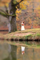 the great day (Wackelaugen) Tags: bärensee pfaffensee stuttgart bride wedding blur blurred tree lake reflection canon eos photo photography wackelaugen explore explored