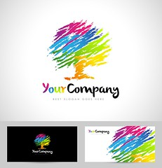 Tree Logo Artistic Brush (royaldexigns) Tags: abstract advertising background brand branding business card company concept corporate creative design elements flat graphic icon illustration modern pictogram shape style symbol template tree treelogo colorfultree treecolors rainbow rainbowtree