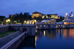 Philadelphia Museum of Art (joscelyn_p) Tags: philadelphia philly pennsylvania pa museumofart philadelphiamuseumofart museum longexposure lightroom canon twilight evening bluehour architecture