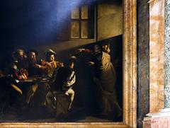 Caravaggio, Calling of St. Matthew (detail)