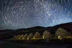 Star Circle Over Charcoal Kilns (Jeffrey Sullivan) Tags: deathvalley nationalpark california usa landscape nature travel photography canon eos 6d roadtrip photo copyright 2017 jeff sullivan allrightsreserved desert death southerncalifornia deathvalleynationalpark valley national park wildrose charcoal kilns star trails starstax