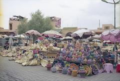 ° (°Bracket) Tags: canonae1p fd35mmf28 morocco marrakech 333bracket 35mm film analogue slr souk display wicker baskets