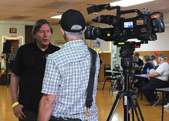 Tom Coston Talks to KABC Eyewitness News About the Doo Dah Queen Tryouts (Robb Wilson) Tags: 2017doodahqueentryouts doodahparade americanlegionhall pasadenacalifornia kabc7eyewithnessnews tvnewscamera