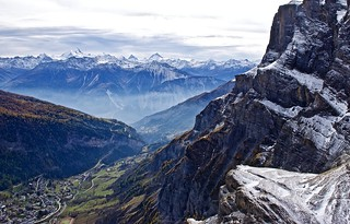 Amazing peaks at Gemmi Pass