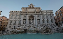 The Fontana di Trevi (simonmanning11) Tags: fontana di trevi fountain rome roman baroque italian italy city cityscape sunrise sculptures architecture bluesky sunlight sunny fujixt2 fujifilm fuji1024mm wide angle water stone wanderlust holiday history historic sculpture tourists landmark