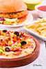 PixelPort (Charles Finny) Tags: pizza burger fries combo pixelport pixelportphotography foodphotography canon canon70d