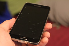 R.I.P. My LCD (josiah wadley (undercoverwookiee)) Tags: samsung galaxy s5 lcd broken cracked shattered