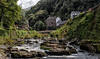 East Lyn River Lynmouth (Mark Wasteney) Tags: northdevon lynmouth river water westcountry devon rocks trees hills panoramic photostitch niksoftware