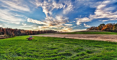 IMG_6551-52Ptzl1scTBbLGER (ultravivid imaging) Tags: ultravividimaging ultra vivid imaging ultravivid colorful canon canon5dmk2 clouds sunsetclouds scenic rural vista pennsylvania pa panoramic painterly fields farm countryscene autumn autumncolors evening trees twilight