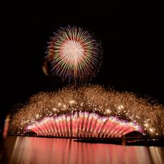 第30回記念やつしろ全国花火競技大会 The 30th Yatsushiro National Firewroks Festival (ELCAN KE-7A) Tags: 日本 japan 熊本 kumamoto 八代 yatsushiro 花火 fireworks スターマイン starmine 球磨川 kuma river ペンタックス pentax k3ⅱ 2017