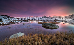 Mountainous reflections (Perez Alonso Photography) Tags: france frenchalps landscapes sunset lake water savoie haute high reflection snow arves auguillesdarves