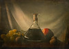 Still Life with Autumn Fruits ... (MargoLuc) Tags: autumn golden soft light fruits grapes pear nuts wine red table vintage mood stilllife classic bottle texture skeletalmess