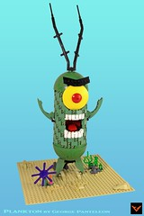 Sheldon J. Plankton (ZetoVince) Tags: zeto vince lego plankton bob spongebob squarepants krabs nickelodeon greek cartoon zetovince