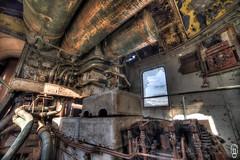 Control room (Oscar Wiedemeijer) Tags: train old steam engine copper steampunk orange rust rusty crusty decay decayed orient express trains urbex urbanex urban exploring nikon d750 samyang 14mm wide angle