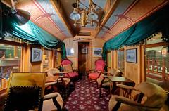Harper's private saloon car interior Durango RR museumDSC09530 Durango & Silverton RR (Recliner) Tags: baldwin dsng drg