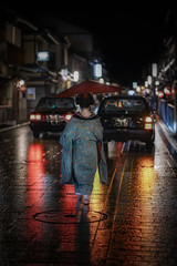 Walking alone (karinavera) Tags: city night photography urban ilcea7m2 geisha people japan gion street kyoto