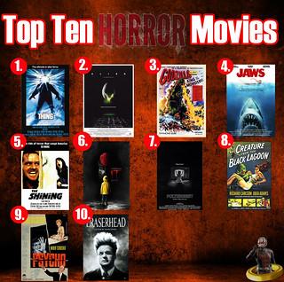 Top Ten Horror Movies!