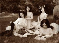 Picnic at Hanging Rock (dolls of milena) Tags: bjd abjd resin doll portrait vintage retro victorian picnic hanging rock elfdoll sian emma rita