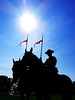 Maintiens le droit (Lazy_Artist) Tags: rcmp royal canadian mounted police ottawa sun horses blue sky hot day