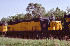 C&NW SD45 #908 at Palatine IL on 5-22-77 (LE_Irvin) Tags: cnw palatine sd45