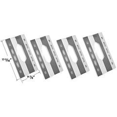 4-PACK-STAINLESS-STEEL-HEAT-SHIELD-FOR-STERLING-FORGE-720-0016-NEXGRILL-720-0008-T-GAS-GRILL-MODELS (grillpartszone) Tags: stainless steel heat shield sterling forge bbq gas grill replacement parts