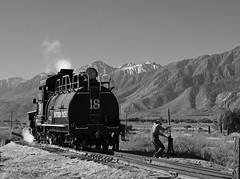 Bending the Iron in B&W (GRNDMND) Tags: trains railroads locomotive steam 460 tenwheeler sp southernpacific slimprincess narrowguage laws california