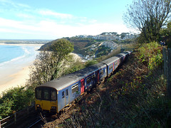 150265 & 150104 Carbis Bay (Marky7890) Tags: gwr 150104 150265 class150 sprinter 2a21 carbisbay stivesbayline railway cornwall train