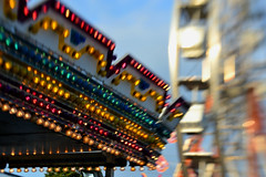 Lights With Glow (timmerschester) Tags: lensbaby composer lights rides ferriswheel blur fair colors