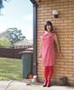 Red Dress (justplainrachel) Tags: justplainrachel rachel cd tv crossdresser tgirl trans transgender transvestite polkadots red dress tights pose selfportrait frocktober frocktober2017