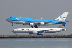 KLM 747 and United 777 (photo101) Tags: beoing sfo airport travel