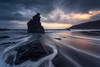 Sunrise in The Bollullo (Caramad) Tags: agua longexposure calima rocks elbollullo sunrise seascape oceanoatlantico sea wave tenerife olas canarias landscape españa rocas