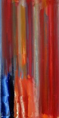Behind the curtain (Peter Wachtmeister) Tags: artinformel modernart artbrut minimalart acrylicpaint abstract abstrakt popart surrealismus surrealism hanspeterwachtmeister