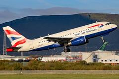 G-EUOI (GH@BHD) Tags: geuoi airbus a319 a319100 ba baw britishairways speedbird shuttle unionflag bhd egac belfastcityairport airliner aircraft aviation