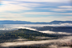Morning in New Hampshire (Bob90901) Tags: morning newhampshire fog sacorivervalley cathedralledge echolakestatepark mist valley autumn whitemountains rpg90901 sky clouds landscape fall canon 6d canonef70200mmf28lisiiusm canon70200f28lll 2016 october 0805 trees