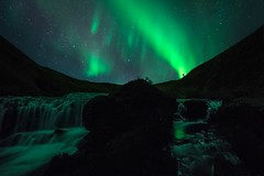 noise noise noise (G.V Photographie) Tags: iceland landscape nighscape nightshot northernlight waterscape waterfall skogar