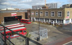 Walworth London Bus Depot. (ManOfYorkshire) Tags: bus buses london londonbus londonbuses walworth depot garage abellio red dennisdart forecourt exit fencing offices routes transportforlondon transport vehicles southlondon contract ns dutch company