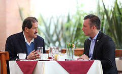"PM Schotte with Vice President of Colombia Angelino Garzon during a meeting in Bogot† Colombia • <a style=""font-size:0.8em;"" href=""http://www.flickr.com/photos/137313818@N05/37274891560/"" target=""_blank"">View on Flickr</a>"