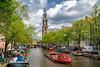 Canal ride (-Giep-) Tags: amsterdam canals grachten westerkerk