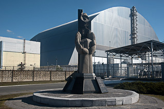 Reactor 4 at chernobyl with the new sarcophagus