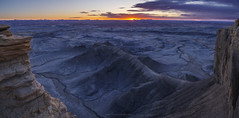 Moonshadow (carolina_sky) Tags: factorybutte moonscapeoverlook utah sunrise cliff rock ridge shadow moon clouds pentaxk1 pentaxdfa1530 capitolreef panorama pixelshift