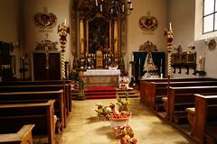 Kirche in der Alten Fuggerei Augsburg (clemensgilles) Tags: augsburg bayern deutschland germany stadt fuggerei city autumn herbst