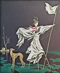 The Scarecrow (1972) - Augusto Gomes (1910-1976) (pedrosimoes7) Tags: augustogomes scarecrow espantalho centrodeartemanueldebrito camb paláciodosanjos algés portugal art painting contemporaryartsociety ✩ecoledesbeauxarts✩ artgalleryandmuseums