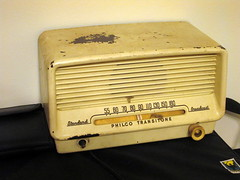 Philco Transitone Standard Broadcast Radio. (dccradio) Tags: lumberton nc northcarolina robesoncounty inside indoors am amradio radio broadcast standard knob speaker transitone philco wall case canon powershot a3400is old antique vintage worn wellworn used project365 photooftheday photo365